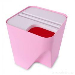 TOTEMUS designový koš 13lt stohovateľný, ružový