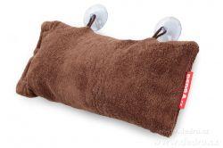 Podhlavník - polštář do vany hnědý 37 x 20 x 15 cm