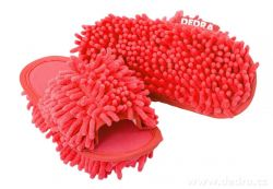 SAMOCHODKY upratovacie papučky, červené