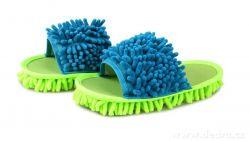 SAMOCHODKY upratovacie papučky, zeleno-tyrkysové