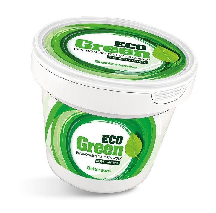 Zelená biologicky rozložitelná pasta