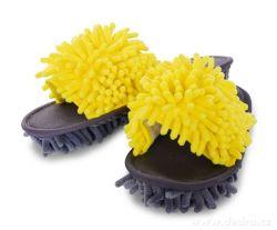 SAMOCHODKY upratovacie papučky, šedo-žlté