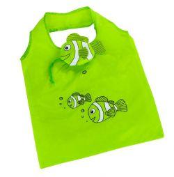 Skládací nákupní taška RYBKA zelená