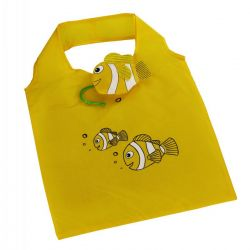 Skládací nákupní taška RYBKA žlutá