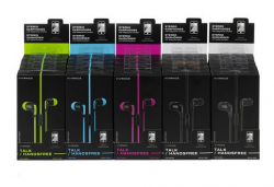 Stereo sluchátka do uší Vivanco FUSION 2 Talk 4 - růžové