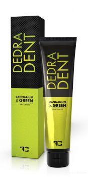 DEDRA DENT bylinná přírodní zubní pasta CANNABIUM & GREEN s konopným olejem, zeleným ječmenem a extraktem ze zeleného čaje Matcha