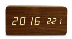 SYSTEMAT - WOODOO CLOCK (tmavé dřevo)