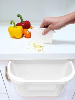 DEDRA - Kuchyňský závěsný odpadkový koš ZBYTKOVNÍK