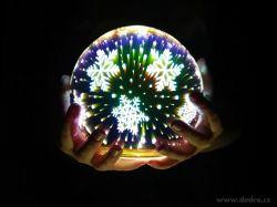3D svítící LED koule