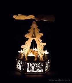 Adventnýkolotoč veľký, drevený, na 4 čajové sviečky 32cm