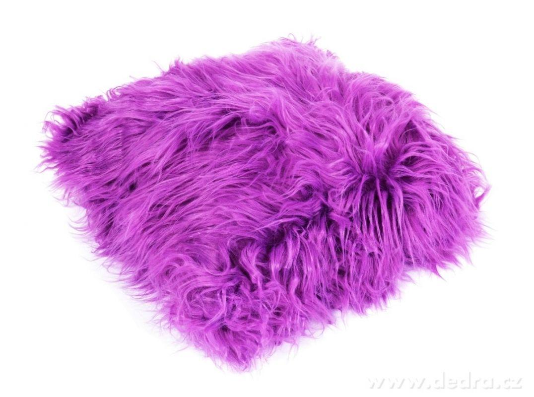 Dekorační potah na polštář s dlouhým vlasem, na zip
