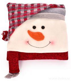 Dekorativní polštář sněhulák