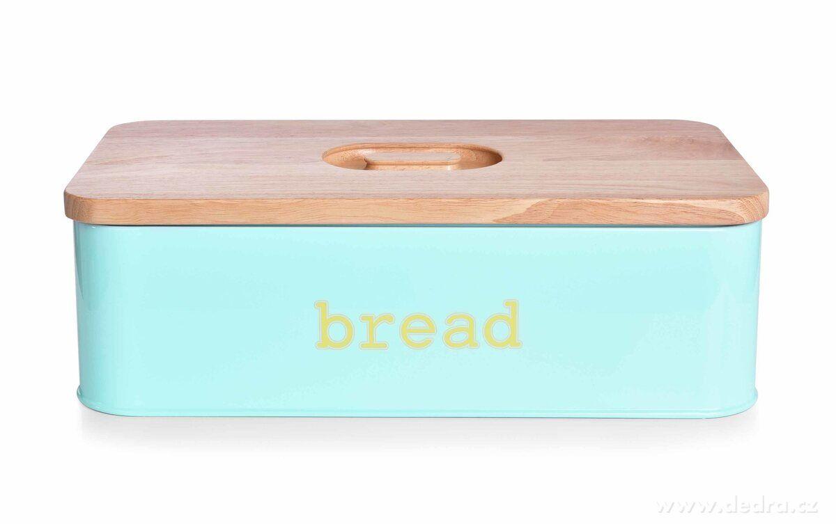 Kovový chlebník s víkem
