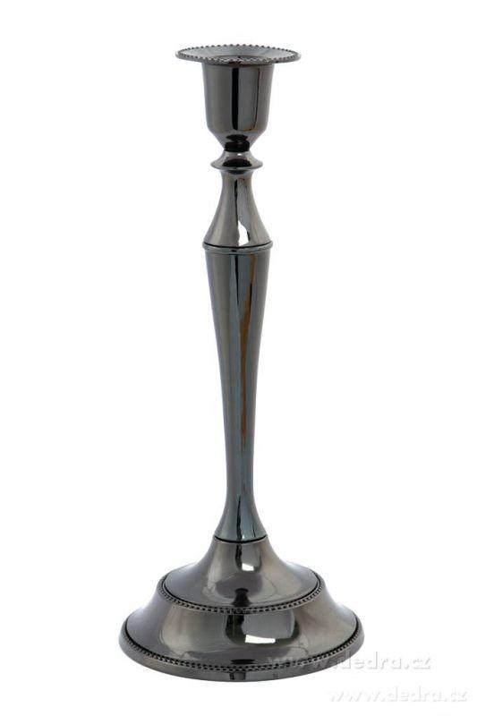 Metalický jednosvícen kouřový, kovový