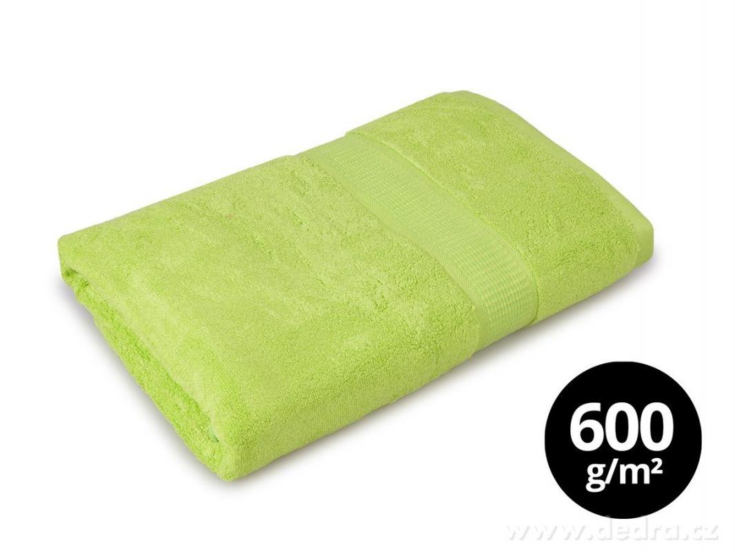BAMBOO osuška s elegantní bordurou jasně zelená