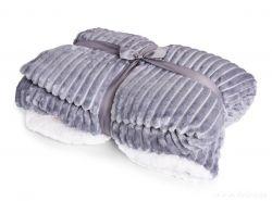 RELIEF LAGOON VELVET luxusná prikrývka 150x200cm, šedá