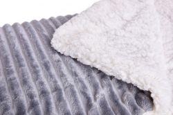 RELIEF LAGOON VELVET luxusná prikrývka dvojvrstvá 150x200cm, šedá