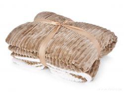 RELIEF LAGOON VELVET luxusná prikrývka 150x200cm, prírodná