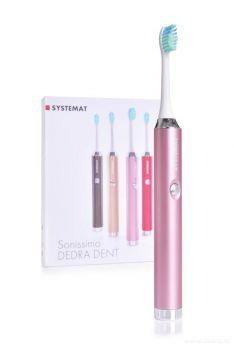 SYSTEMAT SONISSIMO DEDRA DENT sonický zubní kartáček metalic pink