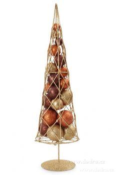 Vánoční stromek s třpytivými kouličkami kovová konstrukce