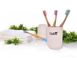 Zubní kartáček GoEco BAMBOO z bambusu s velmi měkkými štětinkami, mintový