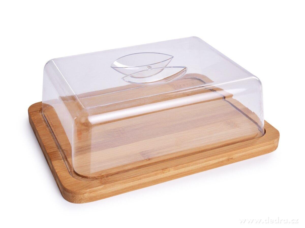 Bambusové prkénko s poklopem na sýry, 24 x 18,5 cm