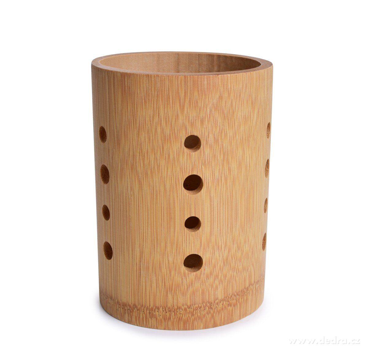 BAMBUSOVÝ STOJAN na příbory a kuchyňské náčiní GoEco® z bambusového masivu