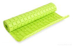 Protiskluzová podložka do vany a sprchy, jasně zelená, s přísavkami