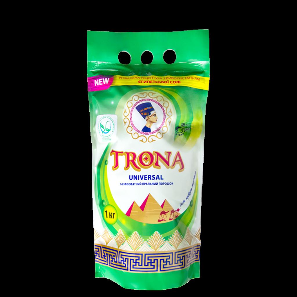 Trona prací prášok Universal 1,0 kg - bezfosfátový prací prášok na biele i farebné prádlo Polymer Ukrajina