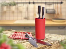 Tyčinkový stojan na nože CARBONIT červený 22cm