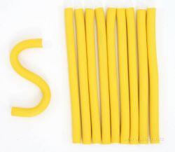 Ohebné natáčky na vlasy žluté 10 ks
