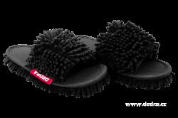 SAMOCHODKY upratovacie papučky, čierne