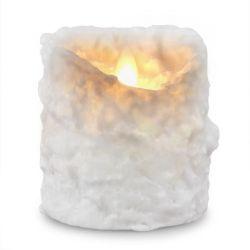 Tančící LED svíce Dancing candle Snow 8 cm