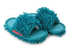 SAMOCHODKY upratovacie papučky, tyrkysové