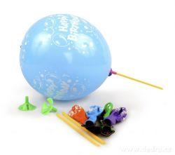 LED LIGHT balónky nafukovací svítící 5 ks mix barev a nápisů