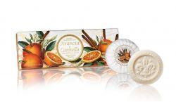 Ručně balená mýdla Taormina Arancia e Cannella 3x100 g